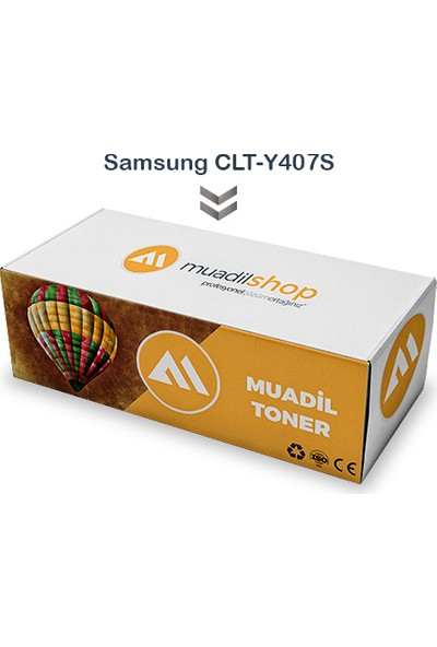 Samsung Clt-Y407S Muadil Toner Sarı - Clp-320/321N/325/326/Clx