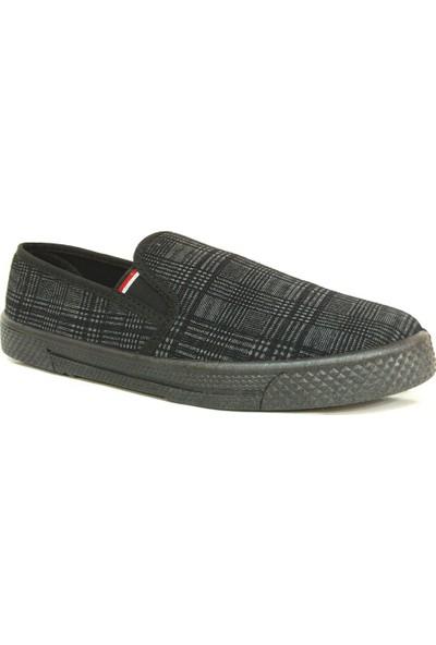 Emek 106 Siyah Ekose Keten Erkek Ayakkabı