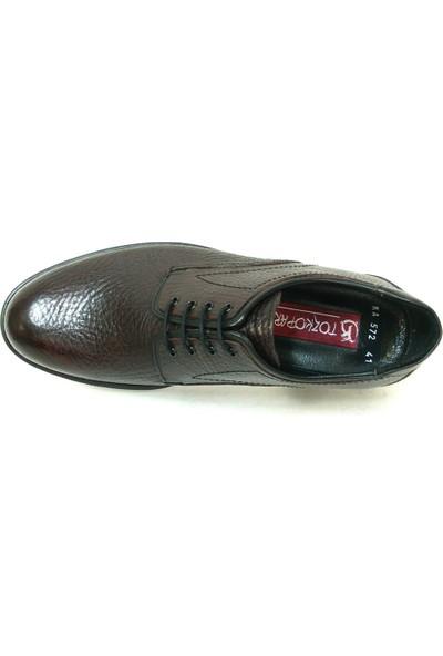 Tozkoparan 572 Bordo Bağcıklı Erkek Ayakkabı