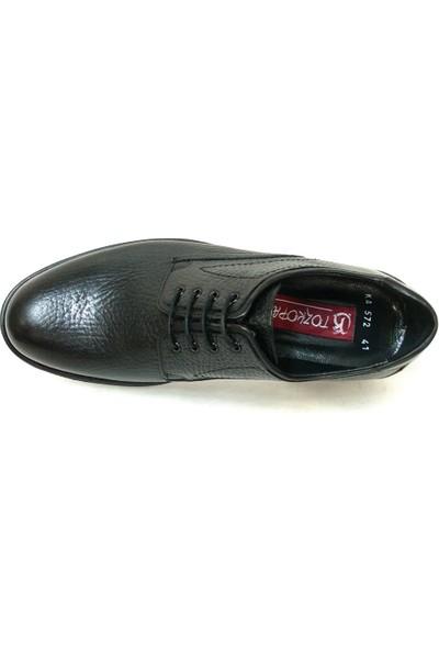 Tozkoparan 572 Siyah Bağcıklı Erkek Ayakkabı