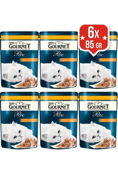 Purina Gourmet Perle Izgara Tavuklu Kedi Yaş Maması 85 Gr X 6 Adet