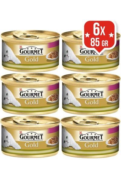 Purina Gourmet Gold Ciğerli Tavşanlı Konserve Kedi Maması 85Gr X 6 Adet