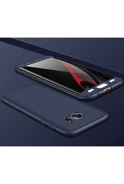 Case 4U Samsung Galaxy S7 Edge 360 Derece Korumalı Tam Kapatan Kılıf Lacivert