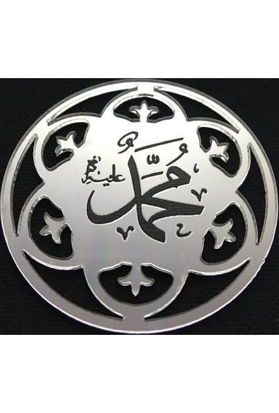 Elitetime Ayet Hz.Muhammed Yuvarlak Pleksi 2 Mm Gümüş Pk:10