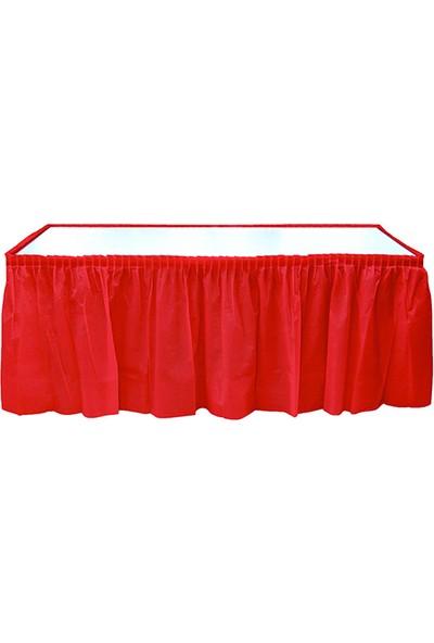 Elitetime Masa Kenarı Eteği Plastik Kırmızı