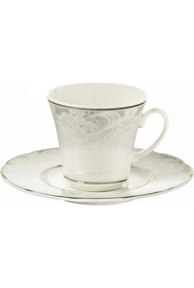 Kütahya Porselen Bone Olympos 9287 Desen Çay Fincan Takımı