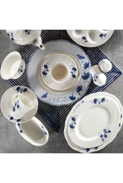Kütahya Porselen Bone Olympos 36 Parça 9830 Desenli Kahvaltı Takımı