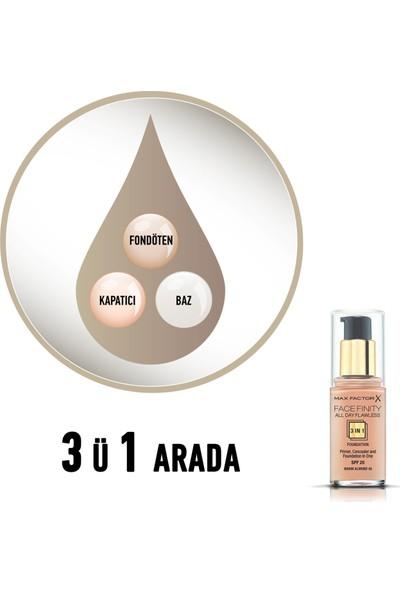 Max Factor FaceFinity 3'ü 1 Arada Kalıcı Fondöten 45 Warm Almond