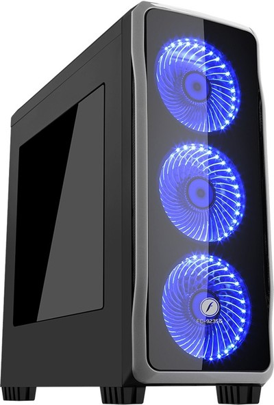 Frisby FC-9235G USB 3.0 3 x 120mm 33 Led'li Fan Oyuncu Kasa (650W)