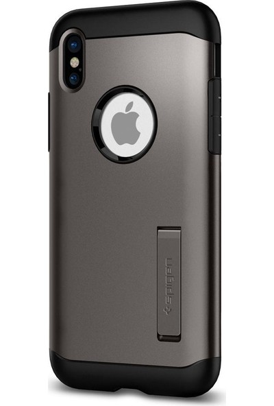 Spigen Apple iPhone X Kılıf Slim Armor Gunmetal - 057CS22135