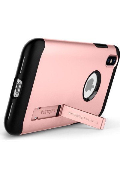 Spigen Apple iPhone XS / iPhone X Kılıf Slim Armor Rose Gold - 057CS22139