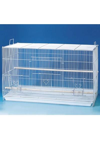 Qh Pet Cage Kafes Salma Kanarya Beyaz 77X46X46 (4)