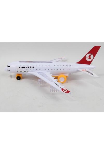 Prestij Oyuncak Turkish Airlines Airbus A380 Oyuncak Uçak Pilli Işıklı 30 cm