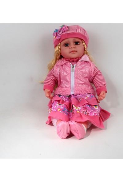 Can Ali Toys Gerçek Yüzlü Bebek Şapkalı Renkli Elbiseli Cn2402 54 cm