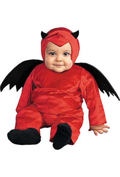 Kostümce Sevimli Bebek Şeytan Kostümü