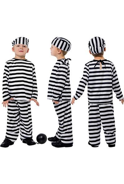 Kostümce Çocuk Mahkum Kostümü