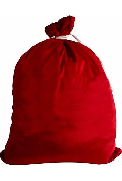 Kostümce Noel Baba Hediye Dağıtım Çuvalı Kadife 45X60