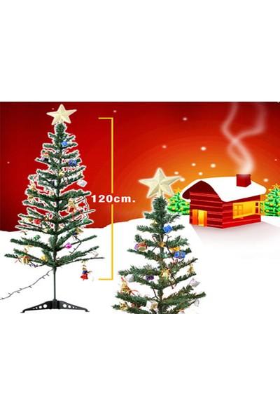 Wildlebend Yılbaşı Ağacı 120cm Pirinç Işık ve 24 Adet Ağaç Süsleri