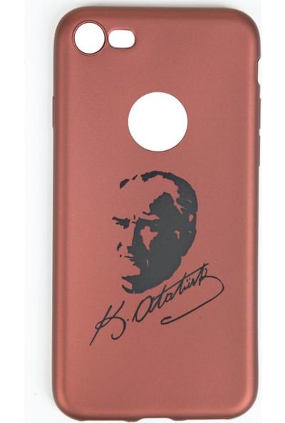 Orange iPhone 7 Atatürk Baskılı Koruma Kılıfı