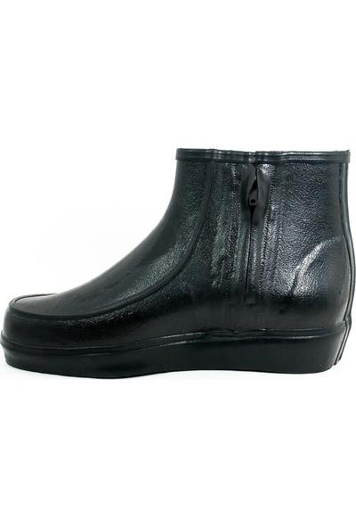 Derby Kauçuk Miflonlu Krep Kısa İnşaat Çizme-Siyah-113410-02