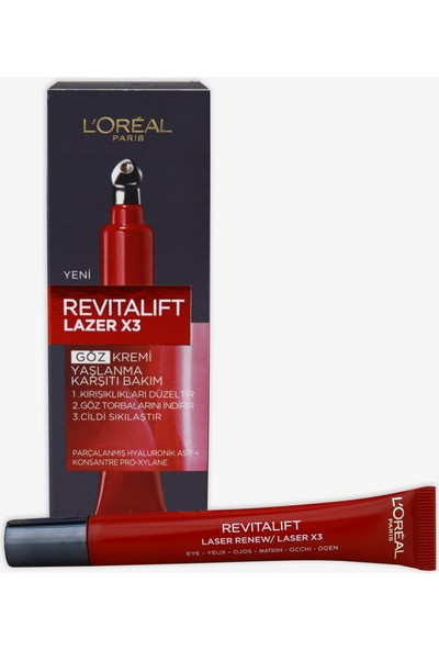 L'Oréal Paris Revitalift Lazer X3 Yaşlanma Karşıtı Bakım Göz Kremi