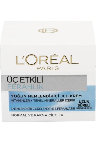 L'Oréal Paris 3 Etkili Ferahlık Günlük Bakım Kremi Normal Ve Karma Ciltler 50ml
