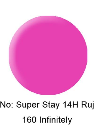 Maybelline New York Superstay 14 Saat Kalıcı Ruj 160 Infinitely Fuchsia