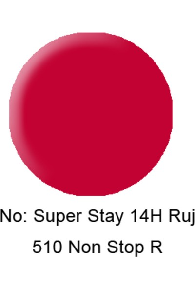 Maybelline New York Superstay 14 Saat Kalıcı Ruj 510 Non-Stop Red