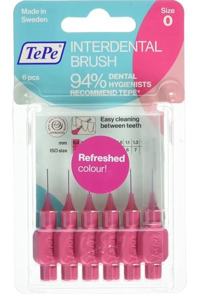 Tepe Interdent Brush Pink 0.4Mm 6Lı Blister Size 0