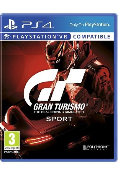 Gran Turismo Gt Sport PS4 Oyun (Vr Destekli)-Türkçe Menü