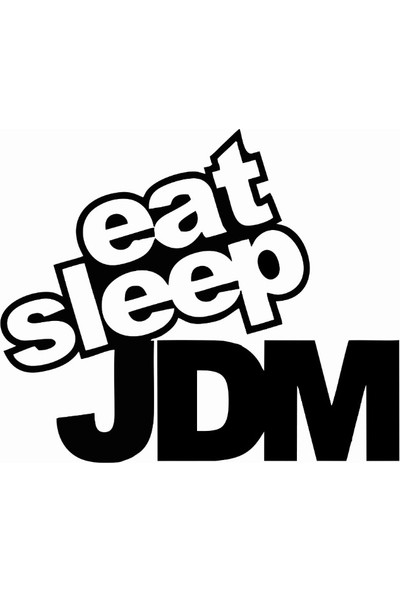 Stickermarket Eat Slep JDM Beyaz Sticker