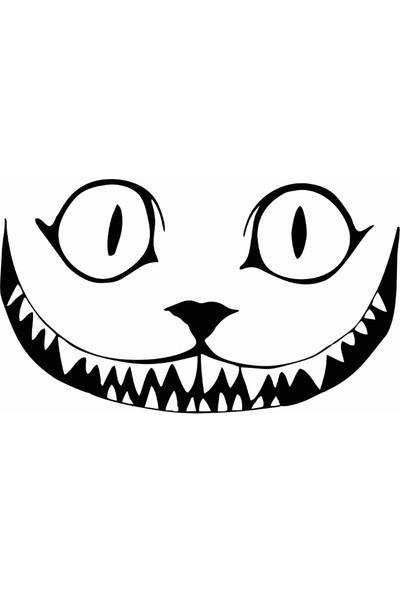 Stickermarket Gülen Kedi Beyaz Sticker