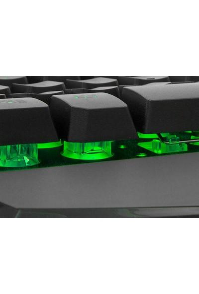 Rampage KB-R79 Gökkuşağı Aydınlatmalı USB Oyuncu Q Multimedia Klavye
