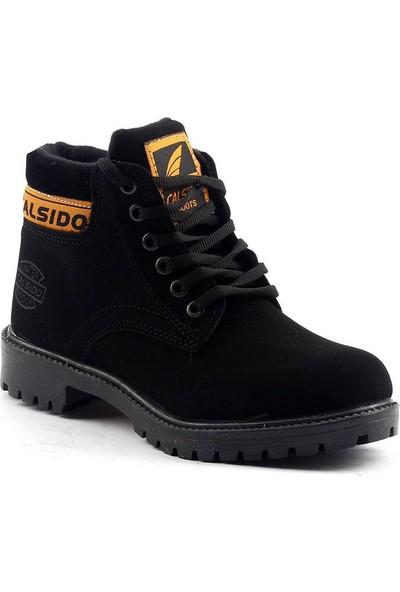 Calsido Termal Astarlı Termo Taban Nubuk Erkek Çocuk Bot Ayakkabı