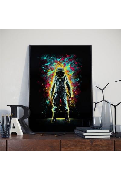 Asr Subconscious Space - Uzayda Bilinçaltı - Saten Kumaş Poster