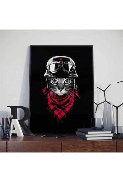 Asr The Adventurer Cat - Maceracı Kedi - Saten Kumaş Poster