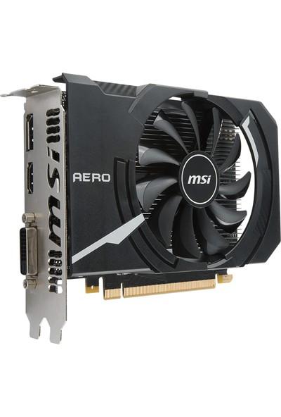 MSI NVIDIA GeForce GTX 1050 Ti AERO ITX OCV1 4GB 128bit GDDR5 Ekran Kartı GTX 1050 Ti AERO ITX 4G OC