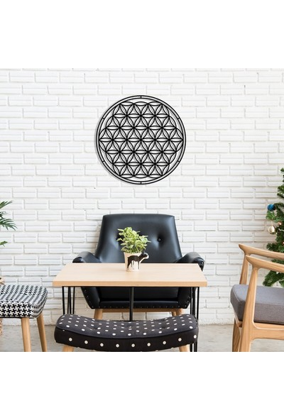 Dekoragel Flower Of Life Yaşam Çiçeği Metal Duvar Dekoru