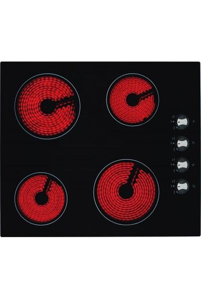 Eminçelik VC 641 4 Gözü Elektrikli Vitro Seramik Siyah Cam Ankastre Ocak