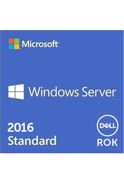 Dell Windows Server 2016,Standard,Rok,16Core (Fordistributor Sale Only) W2K16Std-Rok