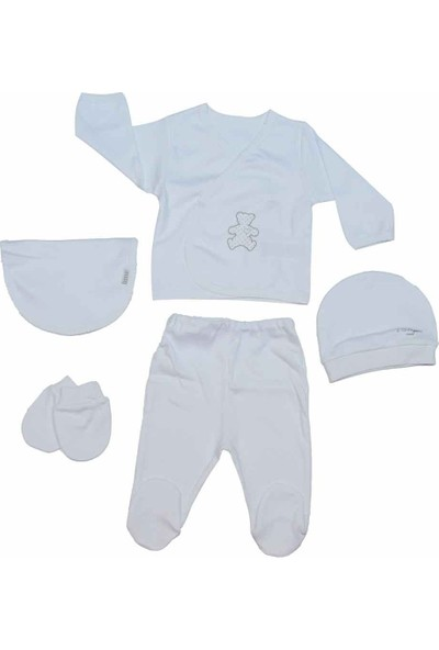 Baby Center 75295 Organik 5'li Bebek Zıbın Seti