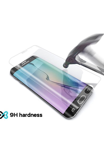 Eiroo iPhone X Curve Tempered Glass Full Siyah Cam Ekran Koruyucu