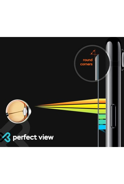 Eiroo iPhone X Tempered Glass Cam Ekran Koruyucu