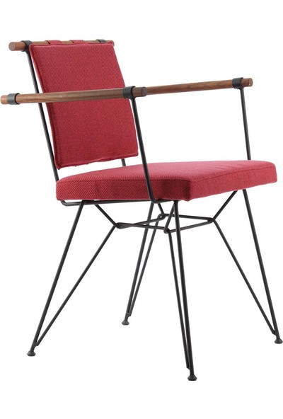 Ak Sandalye Endustrıyel Apyzk Metal Ahşap Sandalye