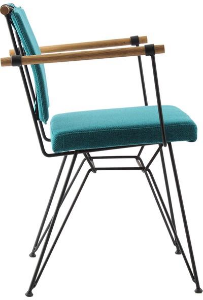 Ak Sandalye Endustrıyel Apyzt Metal Ahşap Sandalye