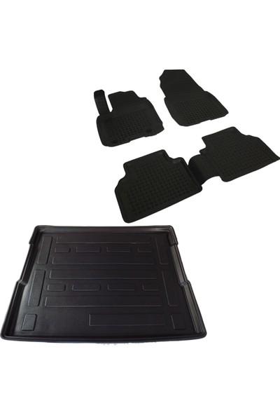 Ford Courier Siyah 3D Havuzlu Paspas ve Bagaj Havuzu