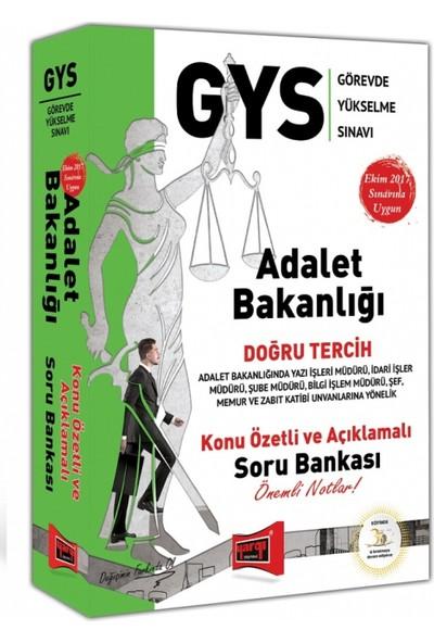 Yargı Yayınevi GYS Adalet Bakanlığı Doğru Tercih Konu Özetli Ve Açıklamalı Soru Bankası