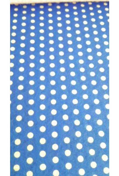 Puanlı Keçe 50x50 cm - Mavi