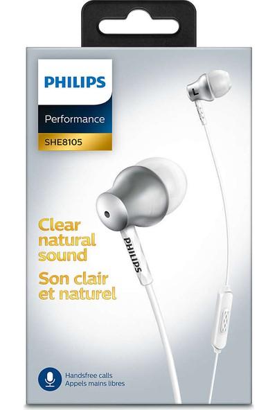 Philips SHE8105SL_00 Kulakiçi Mikrofonlu Gümüş Kulaklık