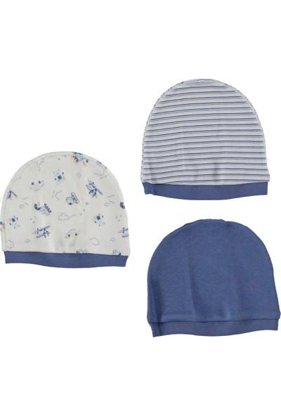 Bebetto Penye 3'lü Erkek Bebek Şapka - Lacivert